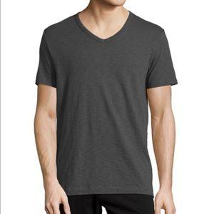 Vince | Slub Short Sleeve V-Neck Tee Dark Grey